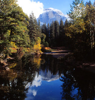 Half Dome reflection on Merced River
