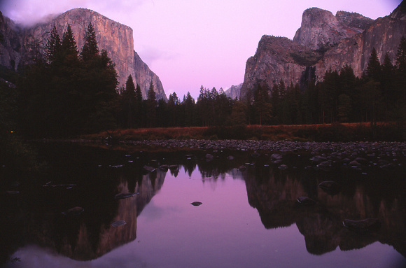classical Yosemite Valley view